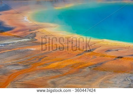 Colors Leaching From Grand Prismatic Hot Spring