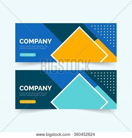 Business Banner. Presentation And Brochure. Horizontal Header, Web Banner. Social Media Cover Ads Ba