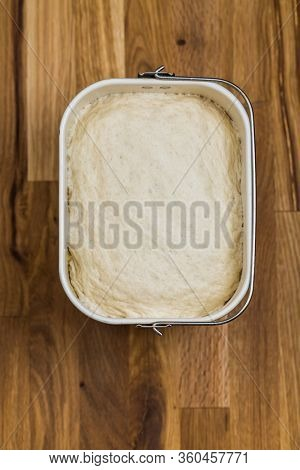 Fresh yeast dough for bread, pizza and baguettes prepared in breadmaker