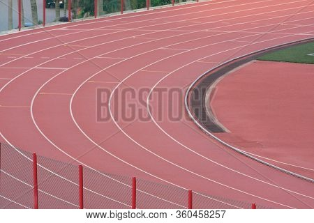 Start His Run On Running Track In A Stadium 12 May 2008