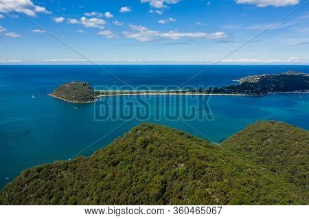 Aerial View Of Barrenjoey Head, Palm Beach And Pittwater, From West Head, Sydney, Australia