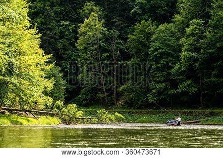 Floating Along Dunajec River In Pieniny National Park, Poland, Dunajec River - Popular Tourist Spot