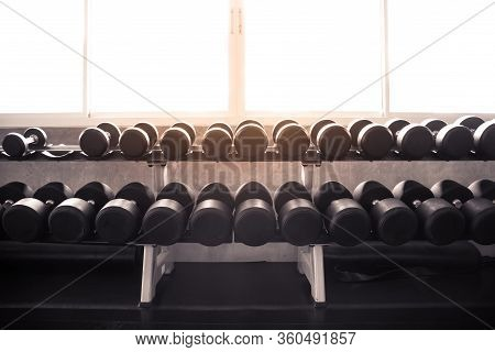 Dumbbells Are On The Shelves.