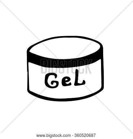 Gel For Nail Extension.  Hand-drawn Vector Illustration Isolated On White Background. Manicure, Pedi