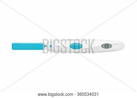 Pregnancy Test In Vector On White Background.negative Pregnancy Test In Vector.