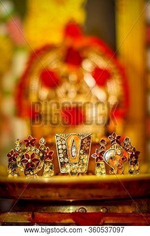 Lord Vishu Balaji Chakra Symbol - Shanku Chakra Namam Lord Vishnu Balaji Auspicious Holy Symbol For