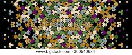 Islamic Pattern, Arabesque Vector Flowers Border. Geometric Halftone Texture, Islamic Pattern With C