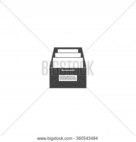 Vector Icon Archived Documents, Storing Documents In Archives On White Isolated Background. Layers G