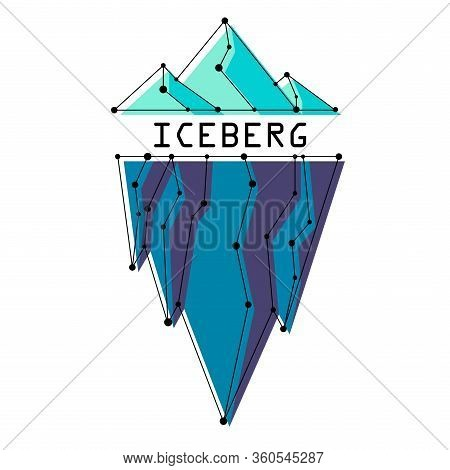 Vector Iceberg On A White Background. The Logo Or Icon Of The Iceberg. Stock Vector.