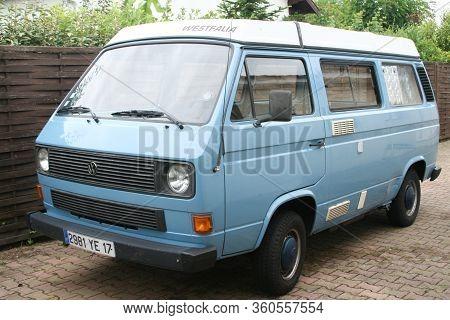 Bordeaux , Aquitaine / France - 11 18 2019 : Volkswagen Campervan Camping Car Van Fourgon Combi Camp