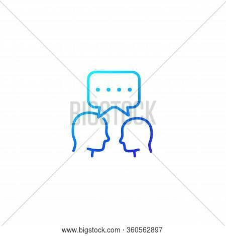 Debate, Dialogue Line Icon, Eps 10 File, Easy To Edit