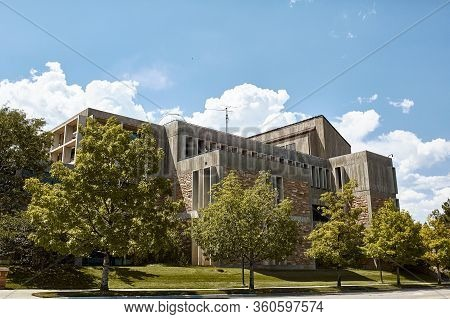 Boulder, Colorado - July 11th, 2019: Beautiful Architecture At Engineering Center Building On The Un