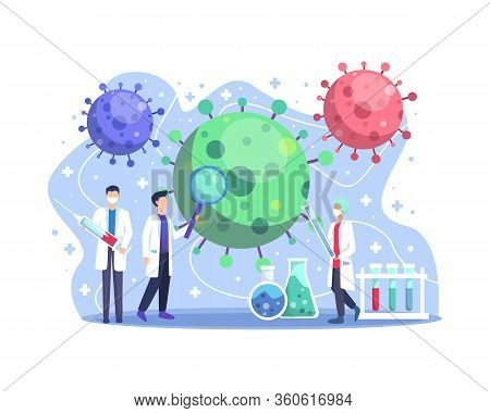 Coronavirus Cov Medical Vaccine Research Laboratory. Scientists And Doctors Are Looking For Vaccines