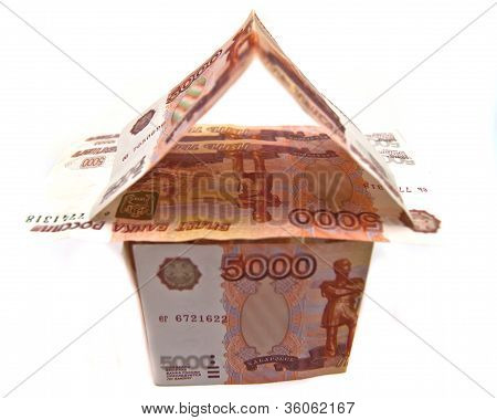 Building Of Russian 5000 Rubles Banknotes