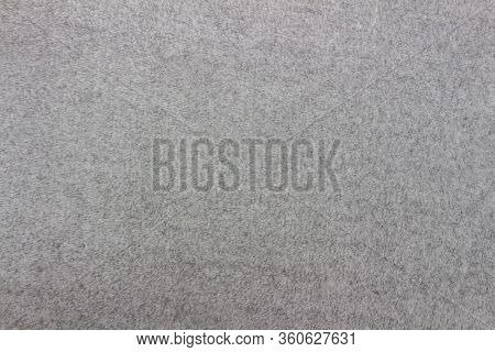 Gray Blanket Texture For Background. Close-up Of Natural Warm Wool Coverlet, Wrap, Coverlid. Origina