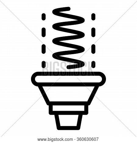 Incandescent Lamp Icon. Outline Incandescent Lamp Vector Icon For Web Design Isolated On White Backg