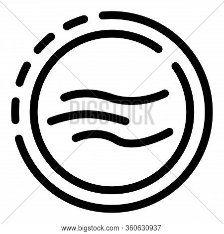 Body Bending In A Circle Icon. Outline Body Bending In A Circle Vector Icon For Web Design Isolated