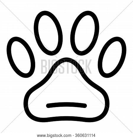 Pets Allowed Icon. Outline Pets Allowed Vector Icon For Web Design Isolated On White Background