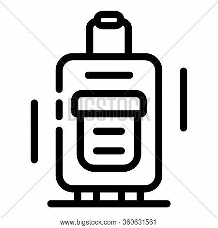 Baggage Icon. Outline Baggage Vector Icon For Web Design Isolated On White Background
