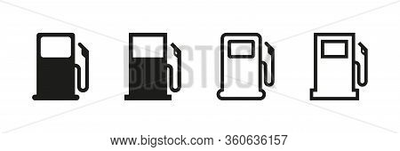 Fuel Vector Isolated Icons. Pictogram Illustration Vector Set Of Icons On White Background. Gas Stat