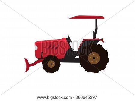 Tractor Vector Illustration.tractor Icon Sign Symbol Design