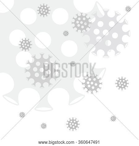 Black And White Stylized Coronovirus Vector Seamless