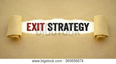 Brown Paper Work With Written Words Exit Strategy