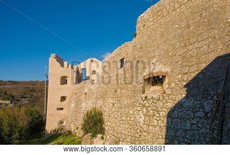 Rijeka, Croatia - December 26th 2019. Trsat Castle In Trsat In The Coastal City Of Rijeka In Primorj