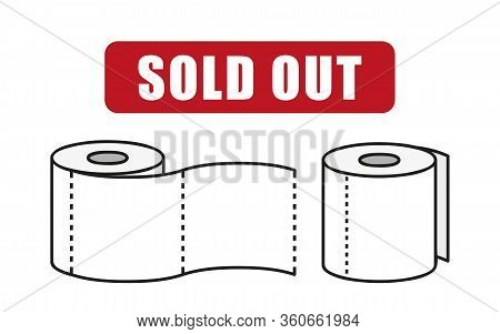 Toilet Paper Sold Out Info Graphic Vector Illustration Eps10