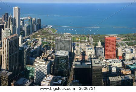 Chicago Park Aerial Panorama