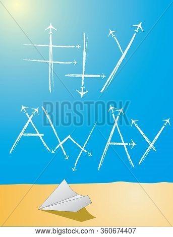 Fuel Contrail Sky Clouds Trace Kerosene Origami