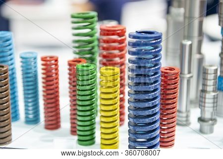 The Multi-size Of Mold And Die Spring For Industrial Purpose. The Group Of Mould And Die Spare Parts