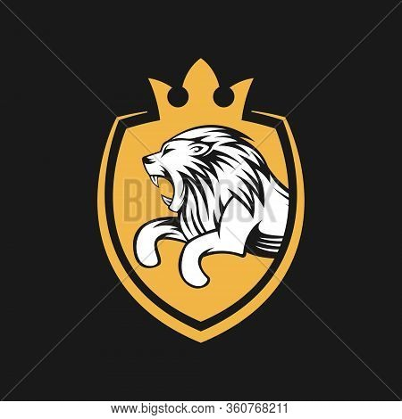 Lion. Lion vector. Lion logo. Lion Logo vector. Lion Head logo. Lion icon vector. Lion icon. Lion Shield Logo. Lion vector icon. Lion King Logo. Luxury Lion Logo. Lion Emblem Logo. Lion Crest Logo vector isolated flat on white background.