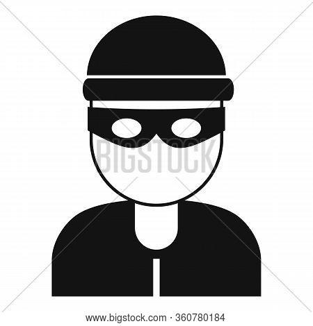 Burglar Icon. Simple Illustration Of Burglar Vector Icon For Web Design Isolated On White Background