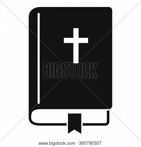 Bible Book Icon. Simple Illustration Of Bible Book Vector Icon For Web Design Isolated On White Back