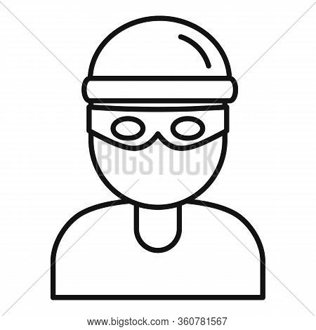 Burglar Icon. Outline Burglar Vector Icon For Web Design Isolated On White Background