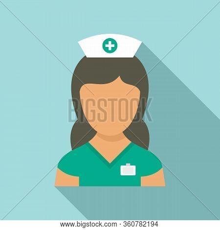 Medic Nurse Icon. Flat Illustration Of Medic Nurse Vector Icon For Web Design