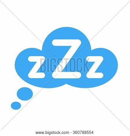 Zzz On Text Bubble. Printable Graphic Tee. Design Doodle For Print. Vector Illustration. Colorful Ta