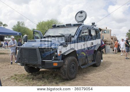 Front Of Oshkosh Corp Tpv Miilitary Vehicle