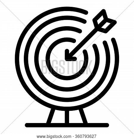 Achieved Goal Icon. Outline Achieved Goal Vector Icon For Web Design Isolated On White Background