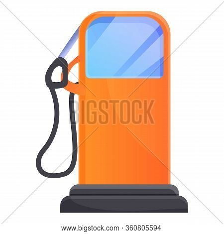Gasoline Column Icon. Cartoon Of Gasoline Column Vector Icon For Web Design Isolated On White Backgr