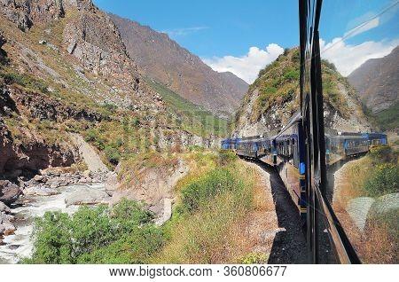 Train From Ollantaytambo Moves To Machu Picchu Pueblo.