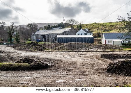 Ardara, County Donegal , Ireland - March 13 2020 : Ardara Distillery Works Stopped During The Corona