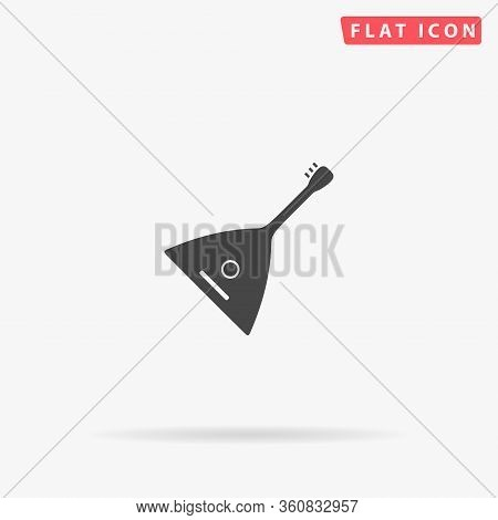 Balalaika Flat Vector Icon. Glyph Style Sign. Simple Hand Drawn Illustrations Symbol For Concept Inf
