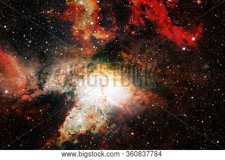 Starfield In Outer Space Many Light Years Far From The Earth. Elements Of This Image Furnished By Na