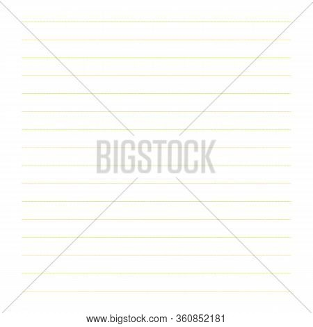 Abstract Dotted Horizontal Line Paper Illustration. Line Dot Background. School Notebook Texture For