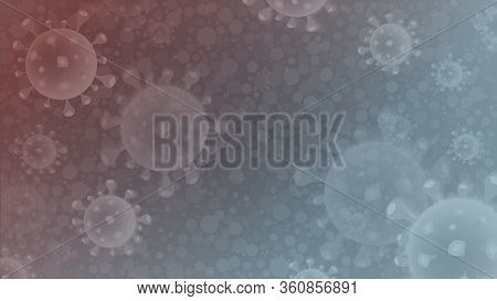 Coronavirus Outbreak Abstract Background, Dangerous Cells. Medical Template.