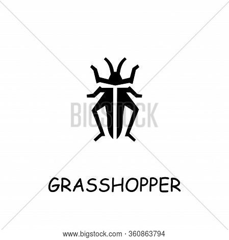 Grasshopper Flat Vector Icon. Hand Drawn Style Design Illustrations.