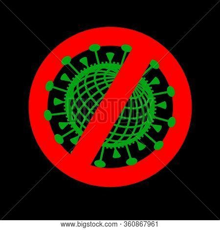 Icon for say no to Corona Virus