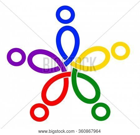 Colorful loops, icon for community unity